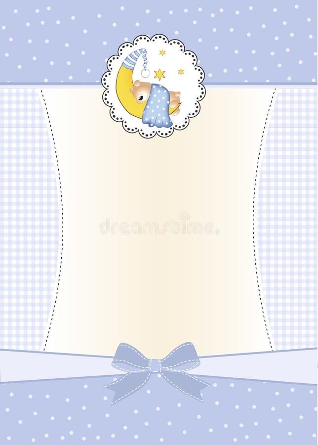 Nuova scheda di annuncio del neonato illustrazione vettoriale