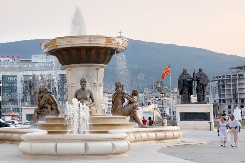 Nuova Skopje fotografia stock