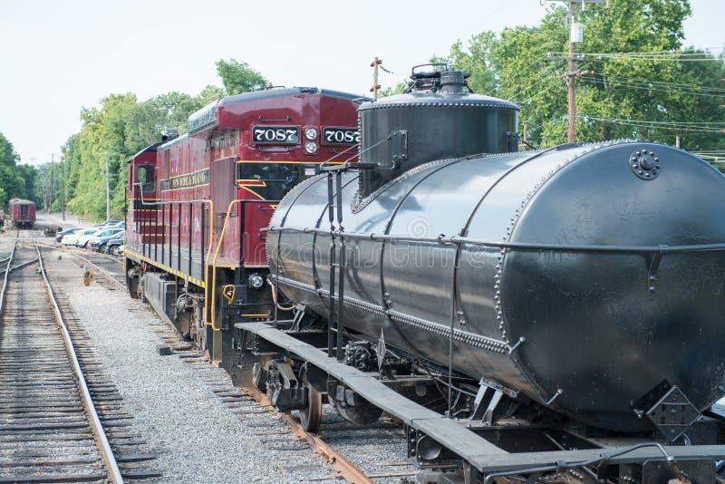 NUOVA SPERANZA, PA - 11 AGOSTO: La strada di nuova ferrovia di Ivyland e di speranza è una linea del treno di eredità per gli osp immagini stock libere da diritti