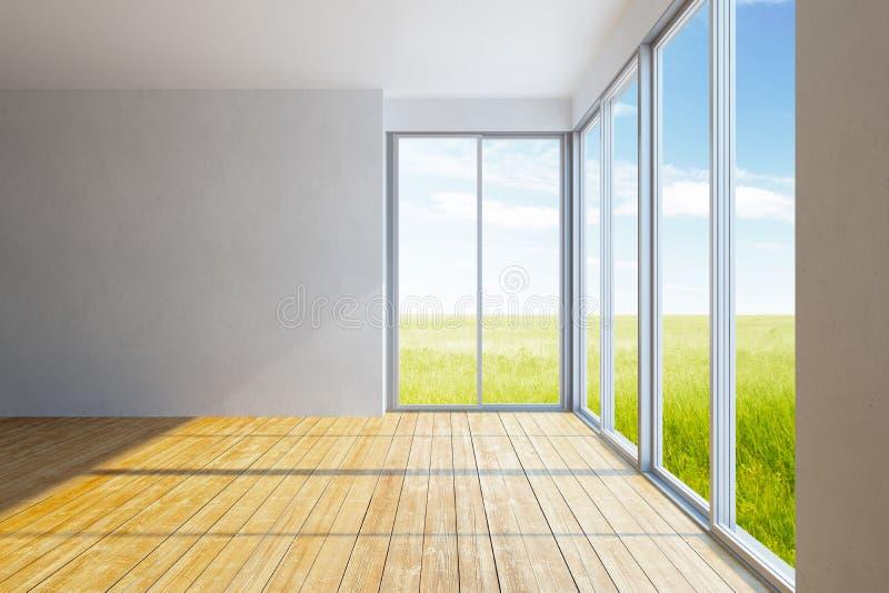 Stanza vuota dell 39 ufficio con la finestra immagine stock for Stanza in ufficio