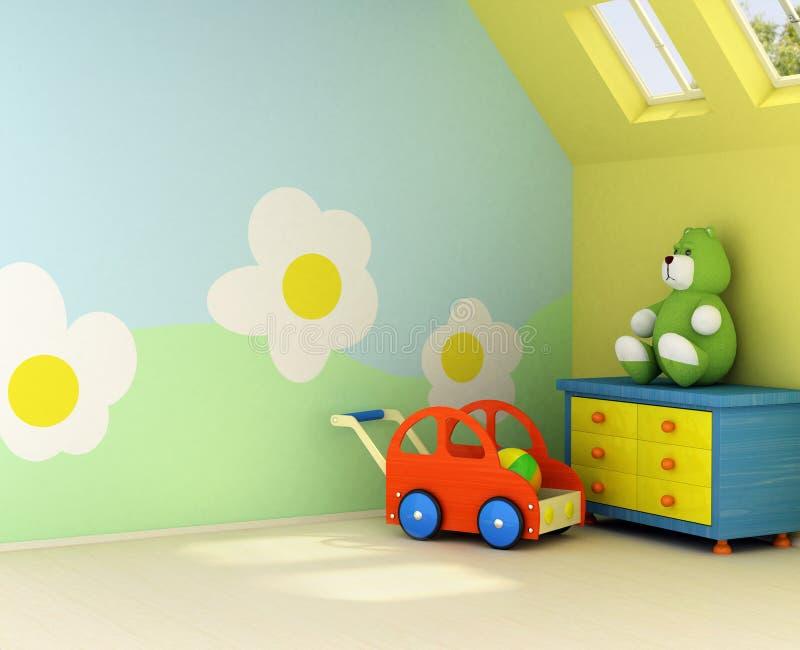 Nuova stanza per un bambino illustrazione di stock