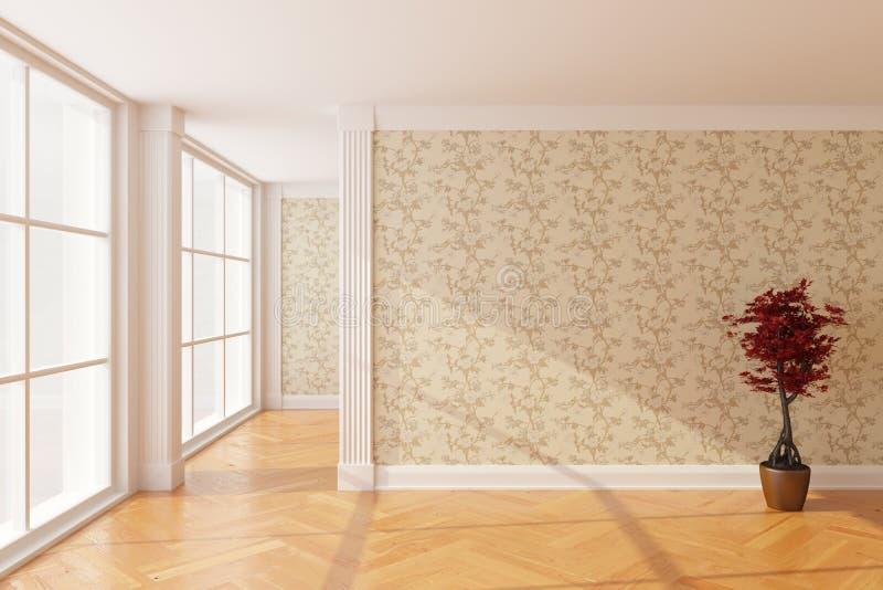Nuova stanza vuota illustrazione di stock