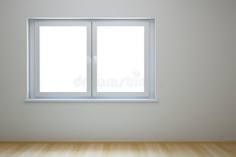 Nuova stanza vuota con la finestra illustrazione di stock