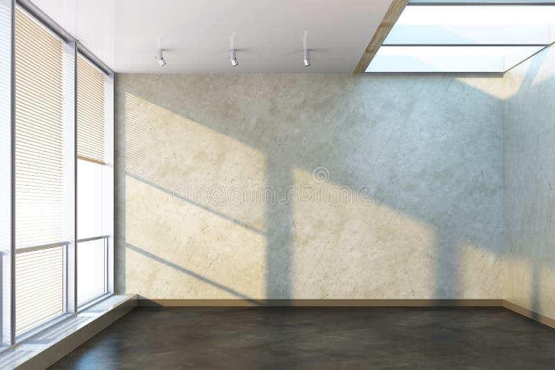 Spazio ufficio vuoto con la grande finestra immagine stock for Design stanza ufficio