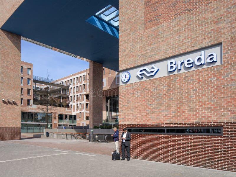 Nuova stazione ferroviaria esteriore Breda, Paesi Bassi immagini stock libere da diritti