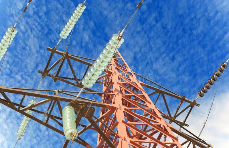 Nuova torre di elettricità fotografia stock libera da diritti