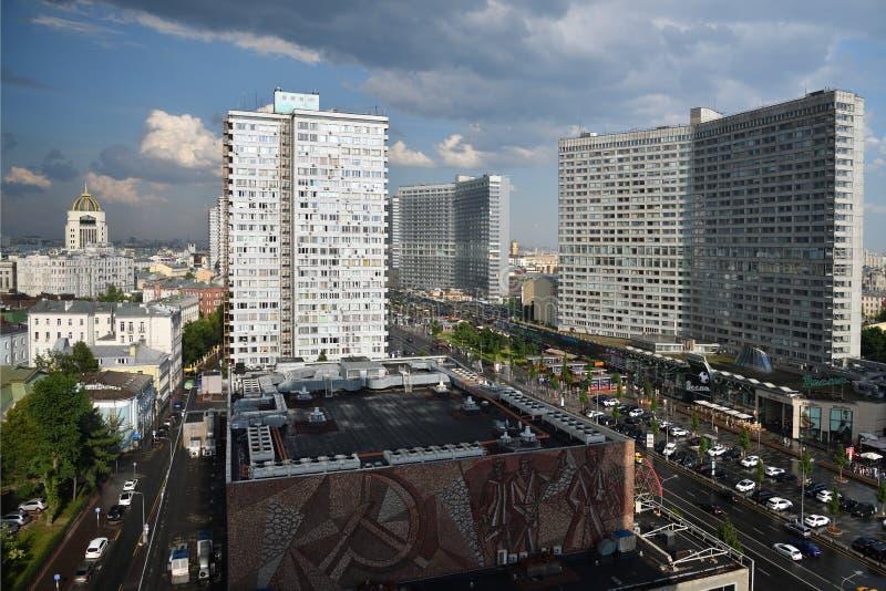 Nuova via di Arbat a Mosca fotografia stock libera da diritti