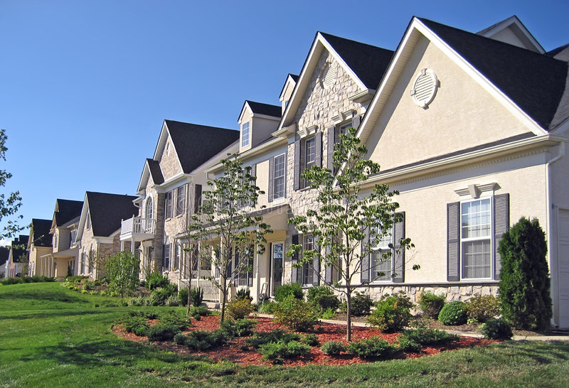 Nuove case dell'alta società immagini stock