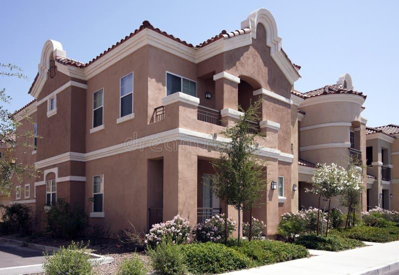 Nuove case moderne dell'Arizona fotografie stock