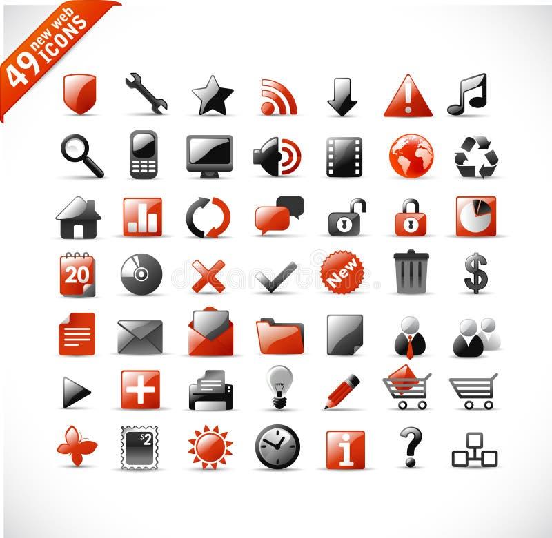 Nuove icone di mutimedia e di Web illustrazione vettoriale