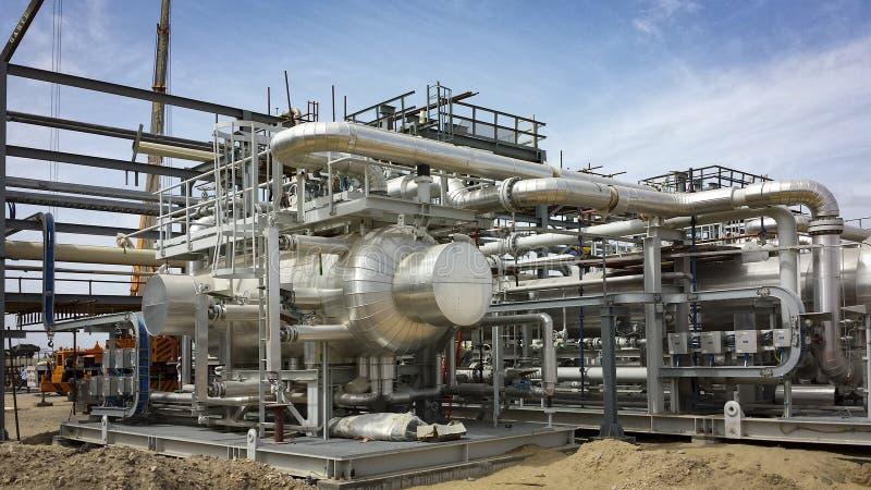 Nuove navi dell'impianto di gas nella costruzione nell'Egitto fotografia stock
