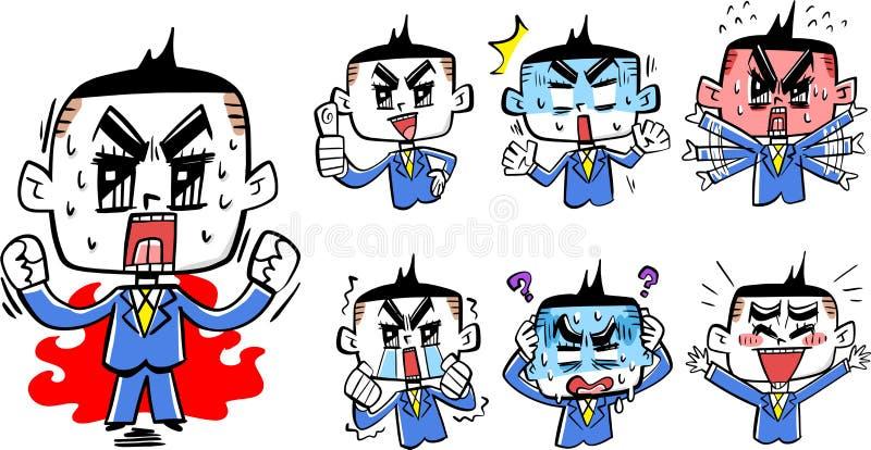 Nuove reclute del sangue caldo comico illustrazione di stock