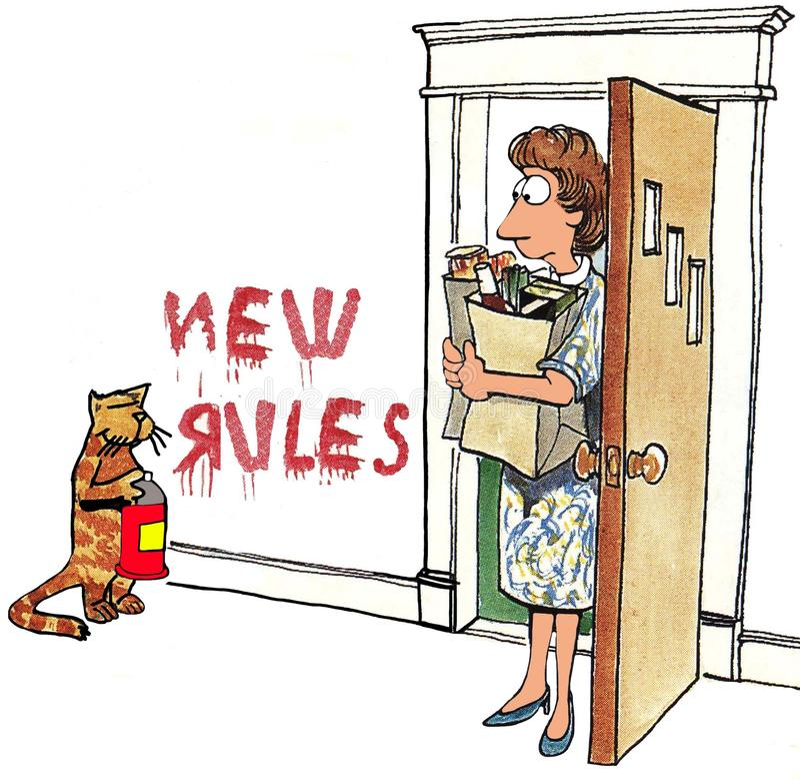 Nuove regole royalty illustrazione gratis
