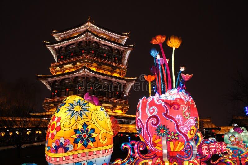 2019 nuovi anni cinesi in Xian immagine stock libera da diritti