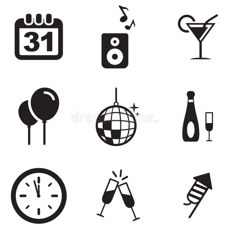 Nuovi anni di Eve Icons royalty illustrazione gratis