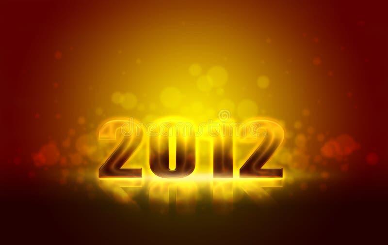 Nuovi anni felici 2012 illustrazione vettoriale