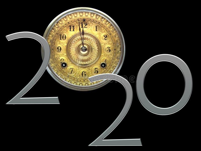 Nuovi anni vigilia 2020 fotografia stock