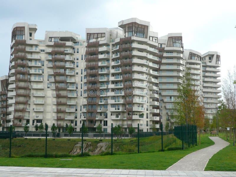 Nuovi edifici residenziali a Milano, Italia immagine stock libera da diritti