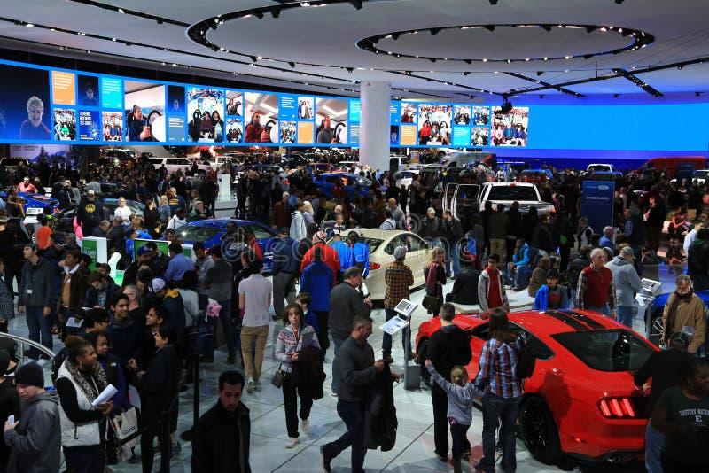 Nuovi 2018 guadano i veicoli su esposizione all'esposizione automatica internazionale nordamericana fotografia stock