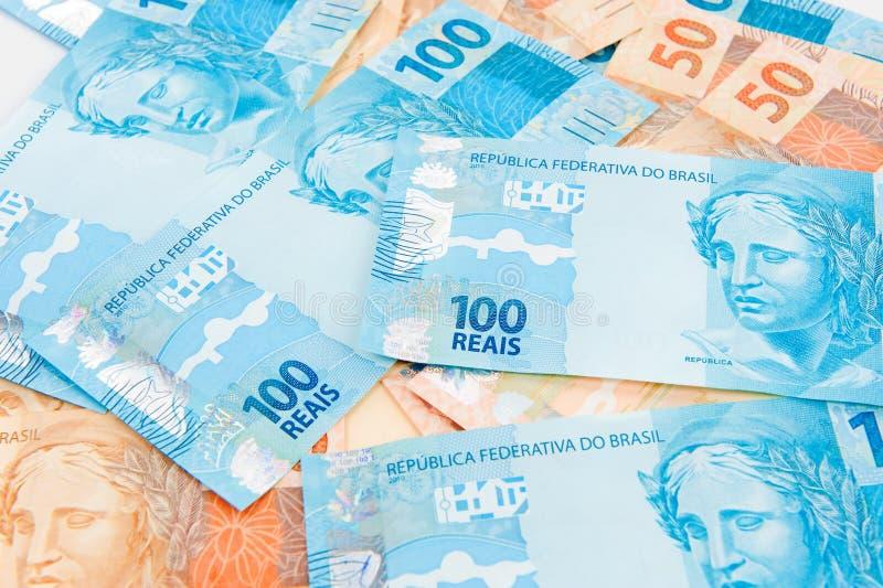 Nuovi soldi brasiliani immagine stock