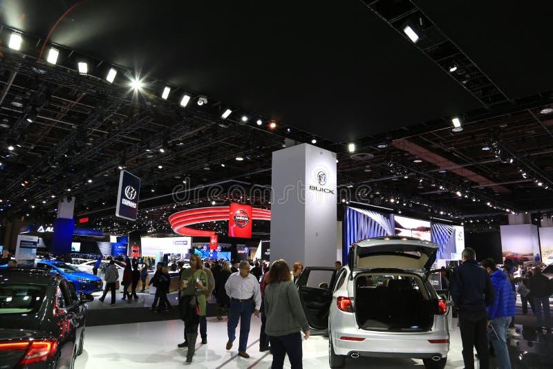 Nuovi veicoli 2018 di Buick su esposizione all'esposizione automatica internazionale nordamericana fotografia stock libera da diritti