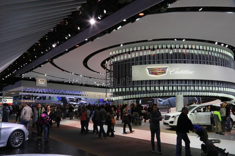 Nuovi veicoli 2018 di Cadillac su esposizione all'esposizione automatica internazionale nordamericana fotografia stock