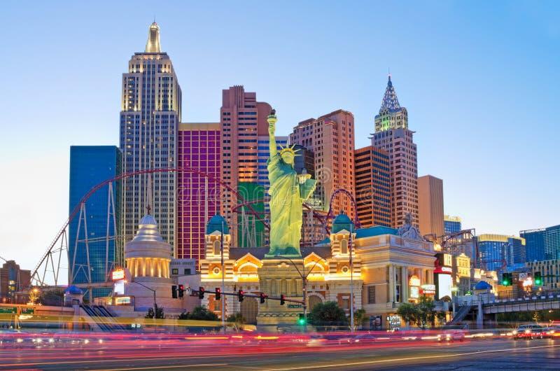 Nuovi York-nuovi hotel & casinò di York a Las Vegas fotografia stock libera da diritti