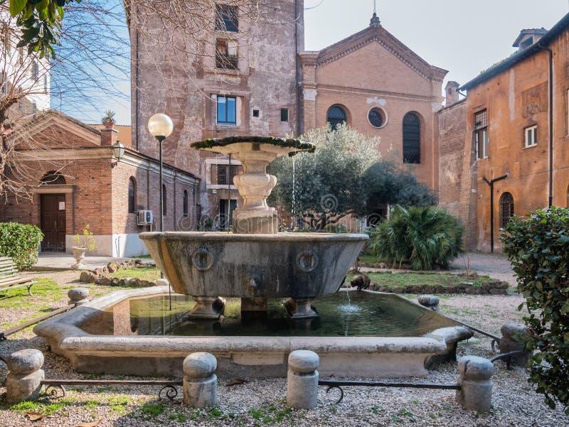 Nuovo雷日纳Margherita医院在Trastevere,罗马 库存图片
