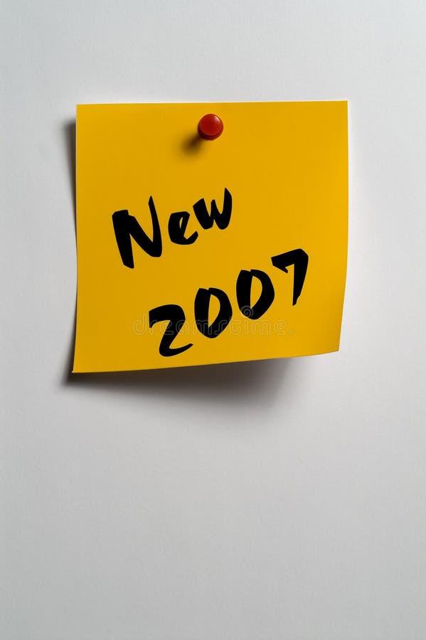 Nuovo 2007 immagine stock