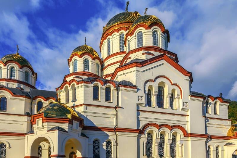NUOVO AFON, ABKHAZIA - 21 OTTOBRE 2014: Il monastero di Simono-Kananitsky fotografia stock libera da diritti