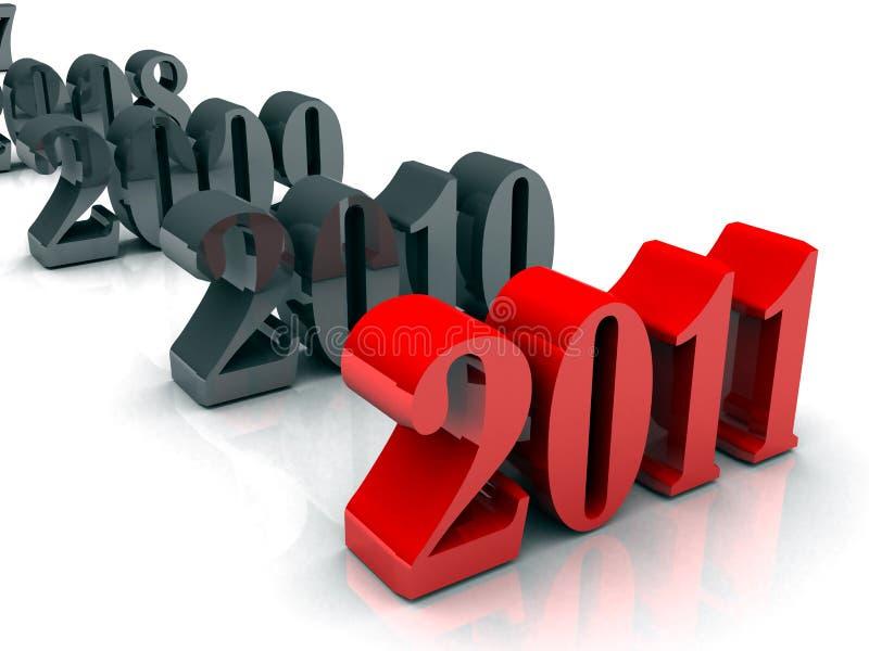 Nuovo anni 2008 - 2011 royalty illustrazione gratis
