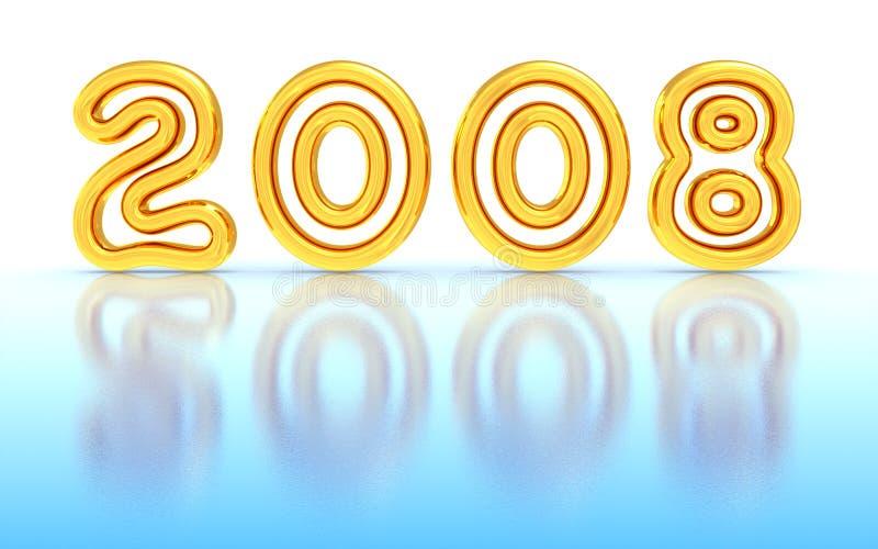 Nuovo anno 2008 illustrazione di stock