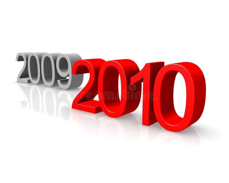 Nuovo anno 2010 royalty illustrazione gratis