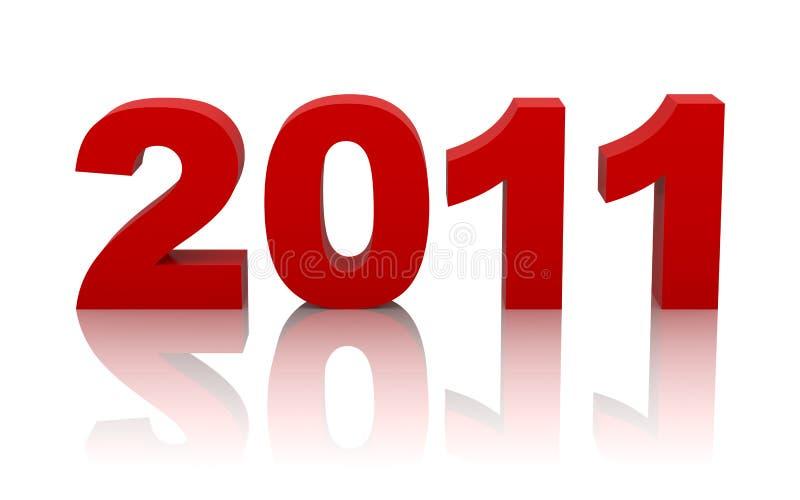 Nuovo anno 2011 royalty illustrazione gratis
