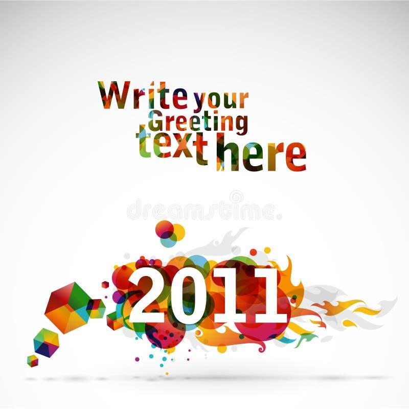 Nuovo anno 2011 illustrazione di stock
