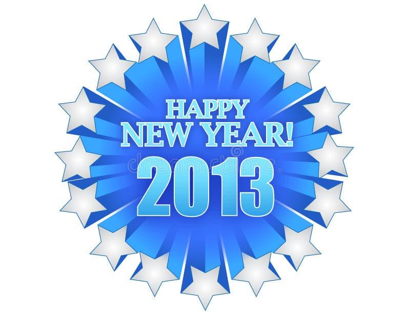 Nuovo anno 2013 royalty illustrazione gratis