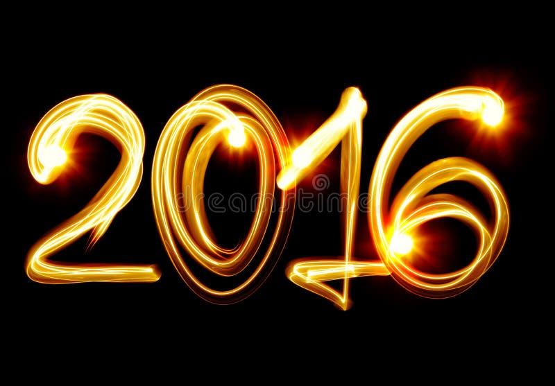 Nuovo anno 2016 illustrazione vettoriale