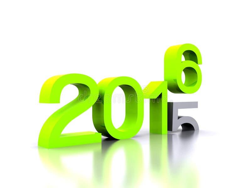 Nuovo anno 2016 royalty illustrazione gratis