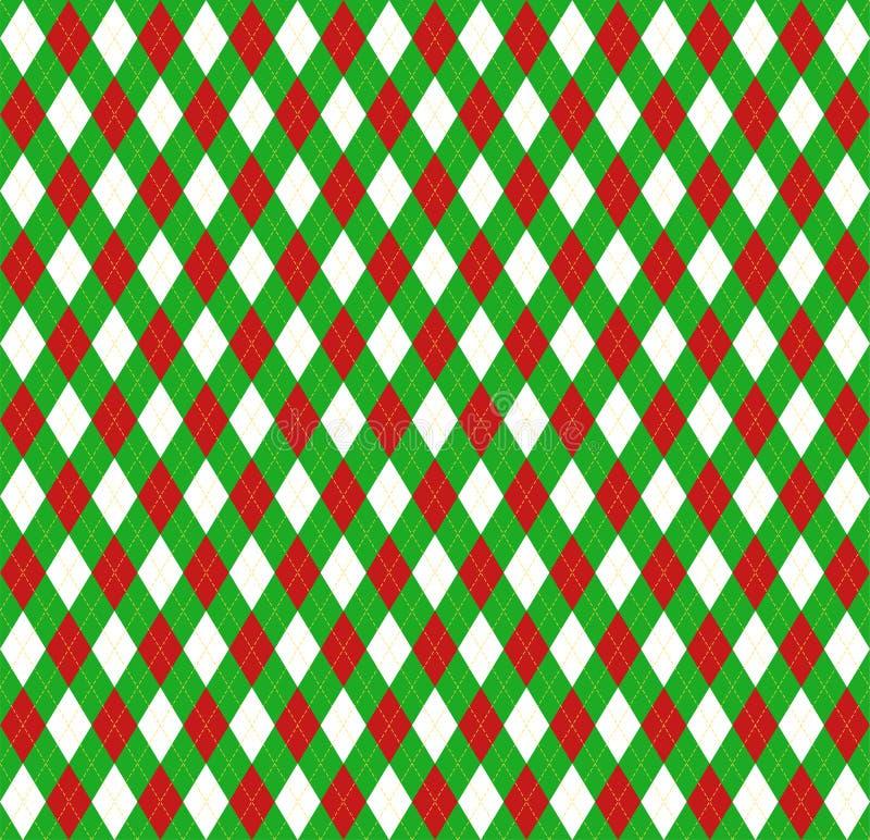 Nuovo anno Argyle di Natale Gabbia dello Scottish del modello royalty illustrazione gratis