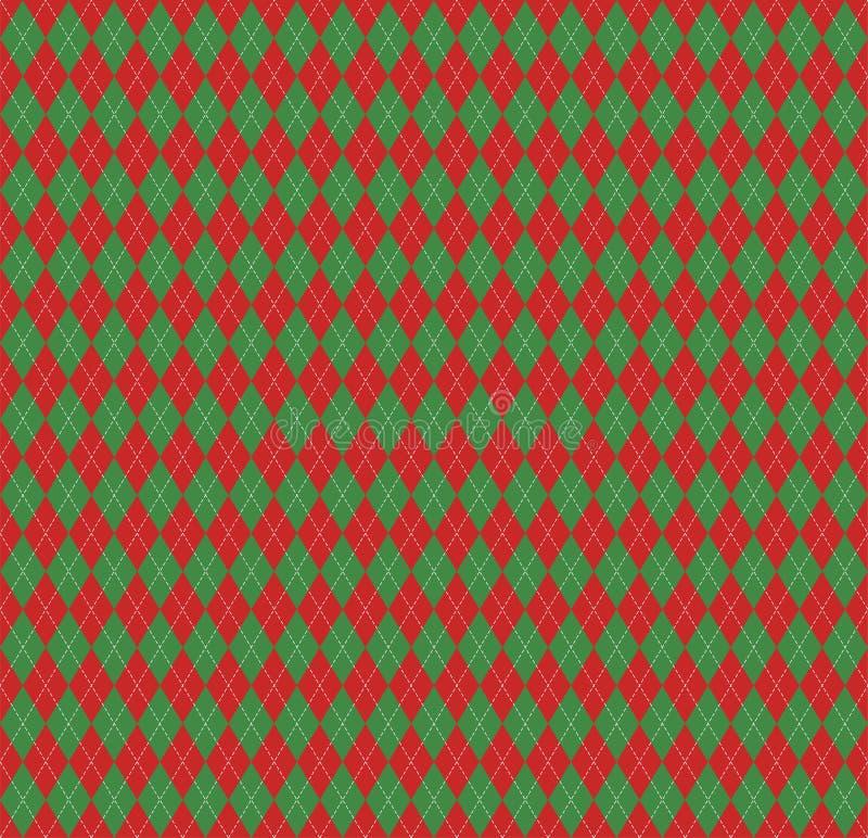 Nuovo anno Argyle di Natale Gabbia dello Scottish del modello illustrazione vettoriale