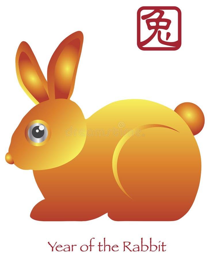 Nuovo anno cinese dello zodiaco del coniglio royalty illustrazione gratis