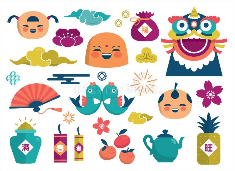 Nuovo anno cinese felice royalty illustrazione gratis