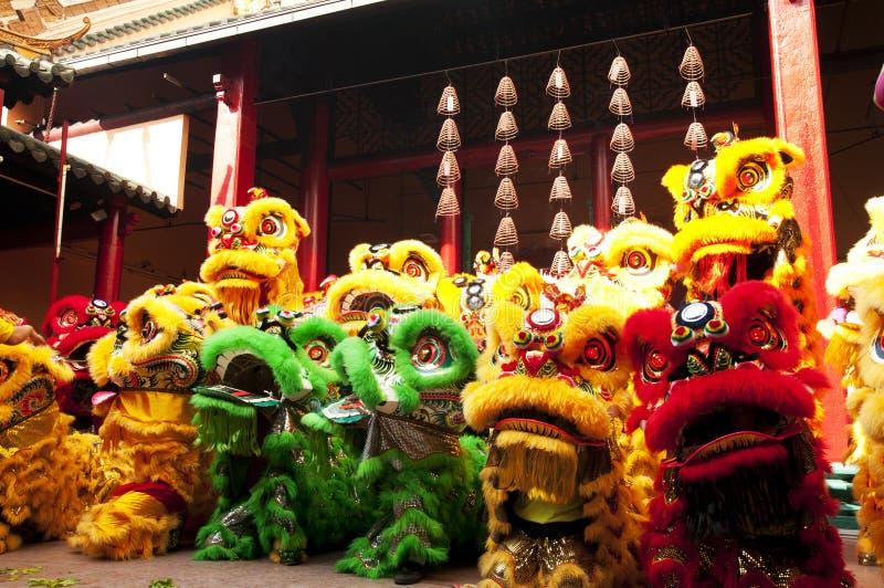Nuovo anno cinese Lion Dance fotografia stock