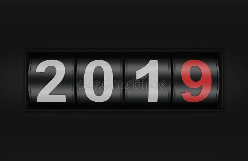 Nuovo anno 2019 con il concetto del casinò royalty illustrazione gratis