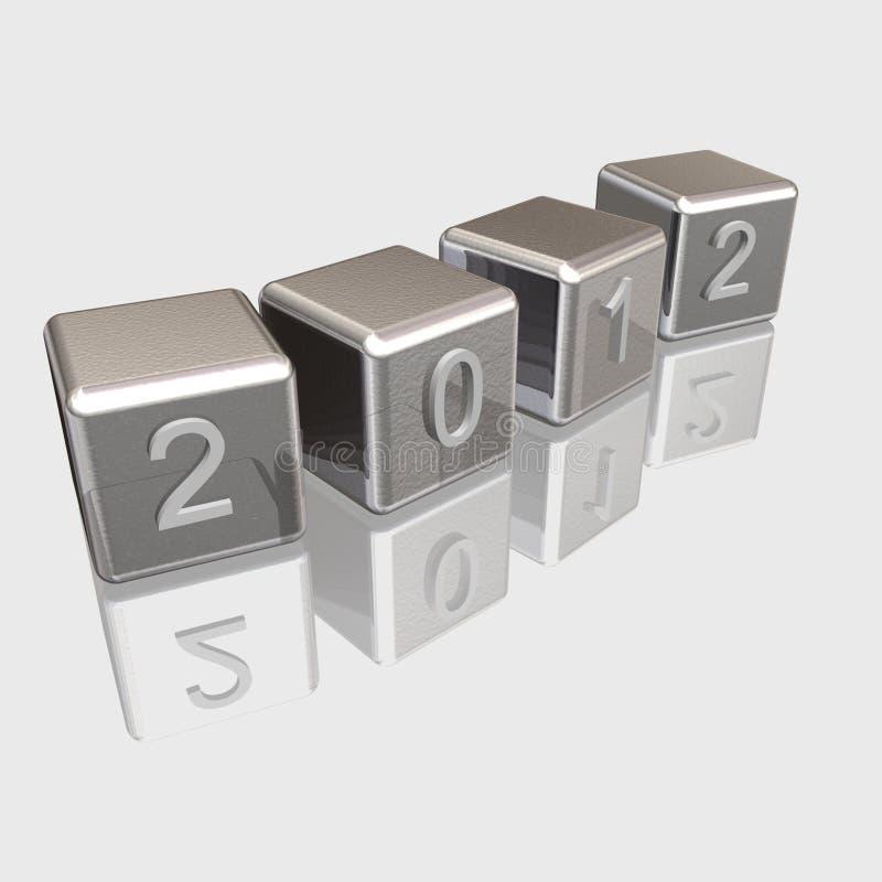 Nuovo anno del bicromato di potassio 2012 royalty illustrazione gratis