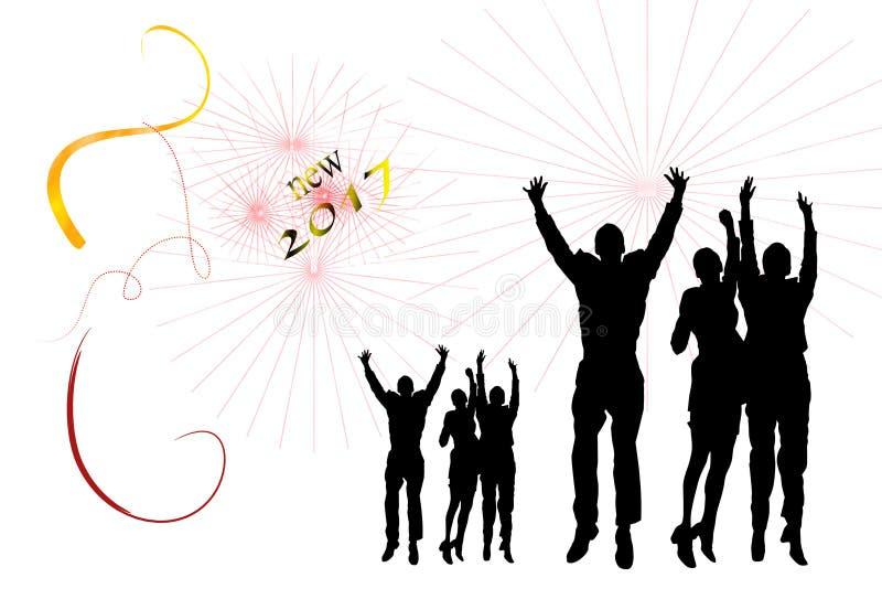 Nuovo anno del partito immagini stock libere da diritti