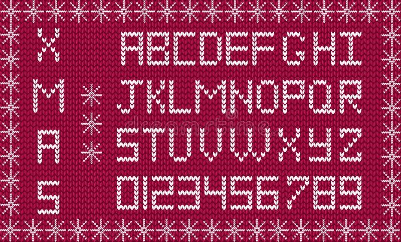 Nuovo anno del pidocchio o alfabeto di natale incorniciato con i fiocchi di neve royalty illustrazione gratis