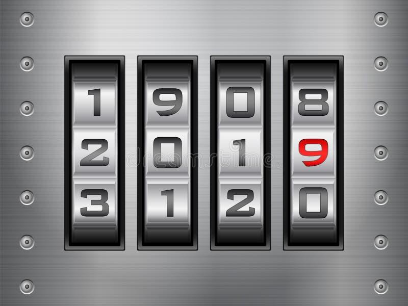Nuovo anno della serratura a combinazione royalty illustrazione gratis