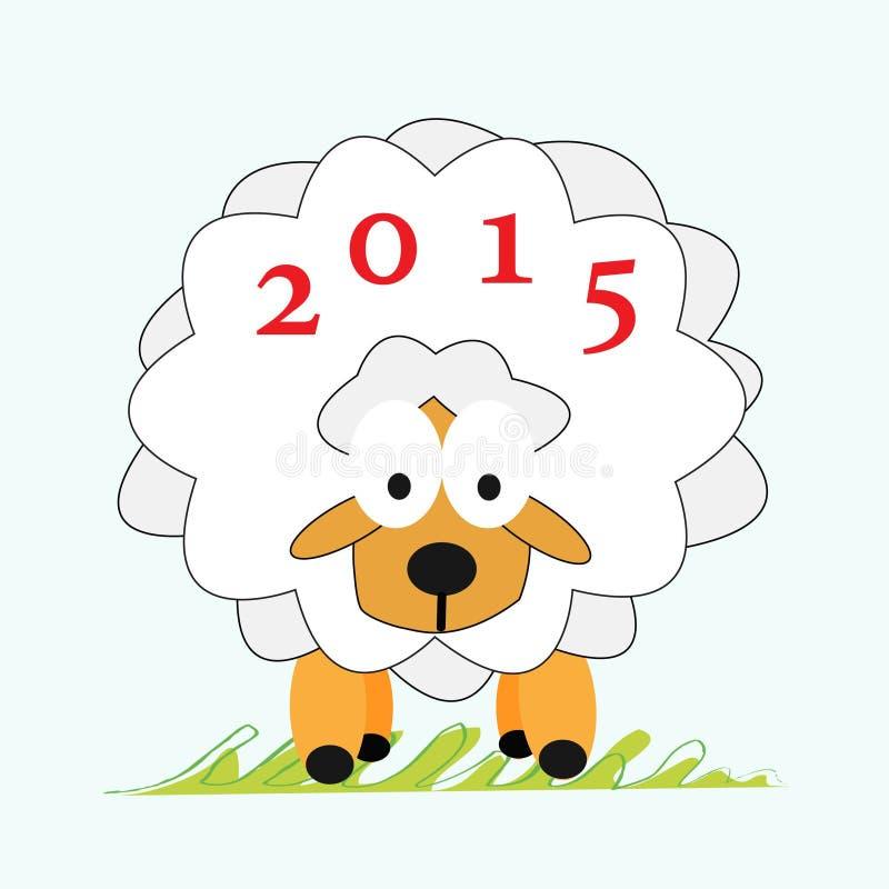 Nuovo anno 2015 delle pecore immagini stock libere da diritti