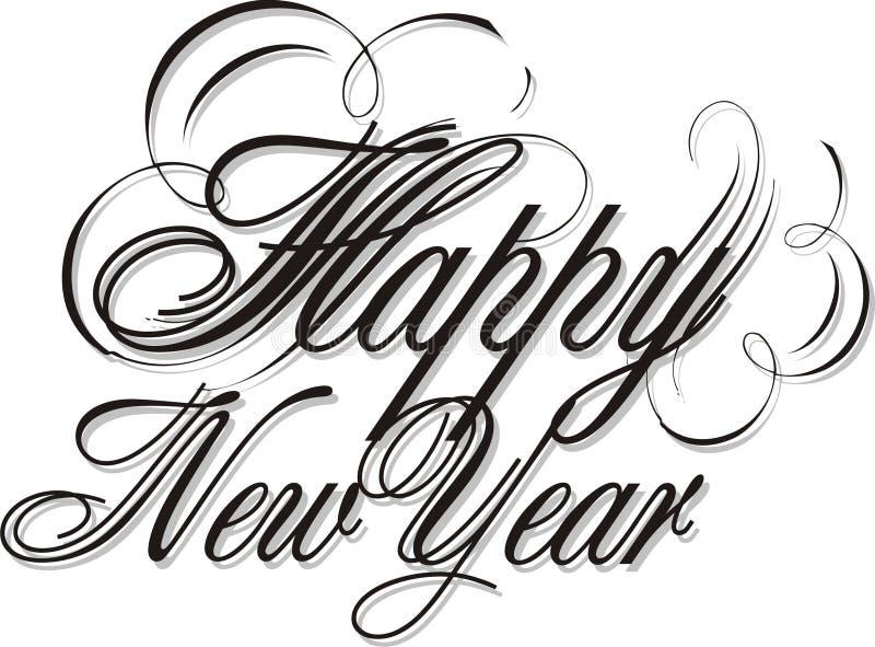 Nuovo anno felice 04 illustrazione vettoriale